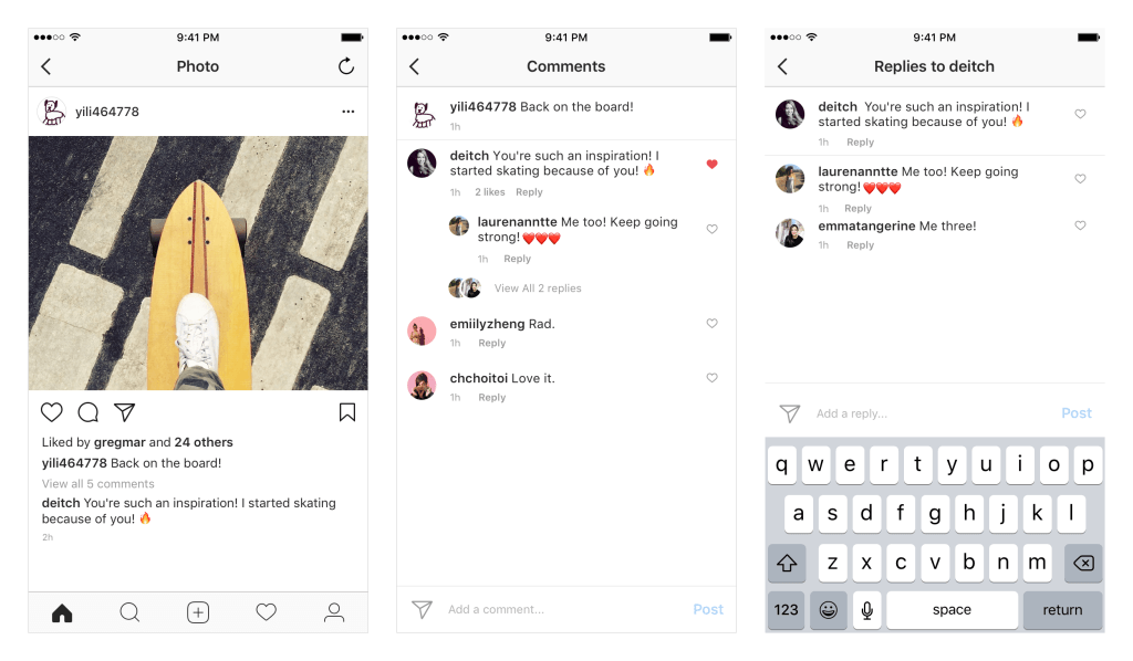 instagram comment threads.png  August Social Media News: Facebook Watch, YouTube Messaging & More instagram 20comment 20threads