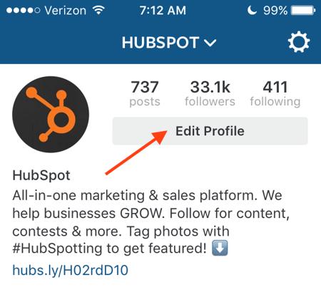Instagram Edit Profile Png