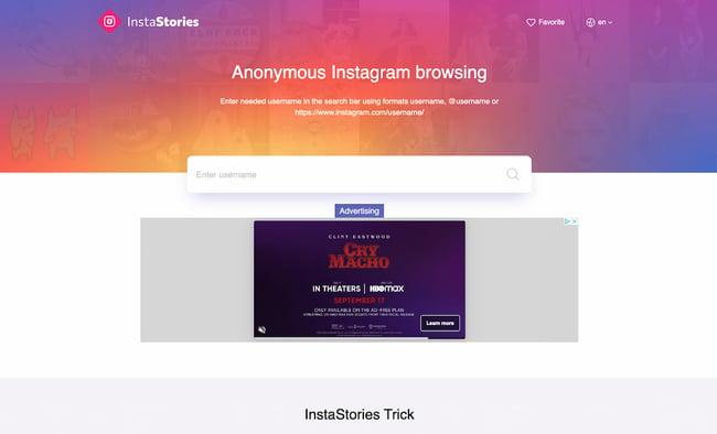 Instagram API example: Insta-Stories.online
