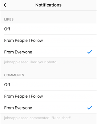 How to adjust your Instagram notification settings