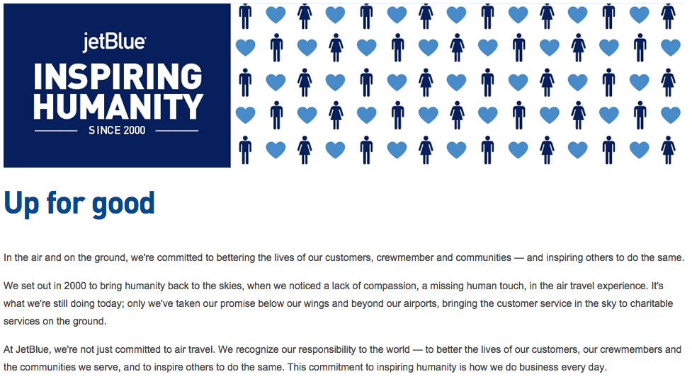 the mission statement for jetblue airways View notes - jetblue - mission and vision statements from mgt 137 at   jetblue's mission statement jetblue communicates its mission statement under  an  jetblue airways case notes southeastern oklahoma state university  mgt 4027.