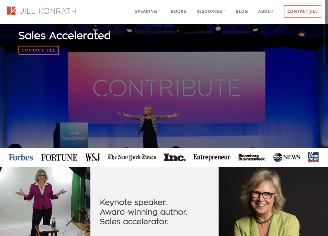 Jill Konrath Homepage Design.png