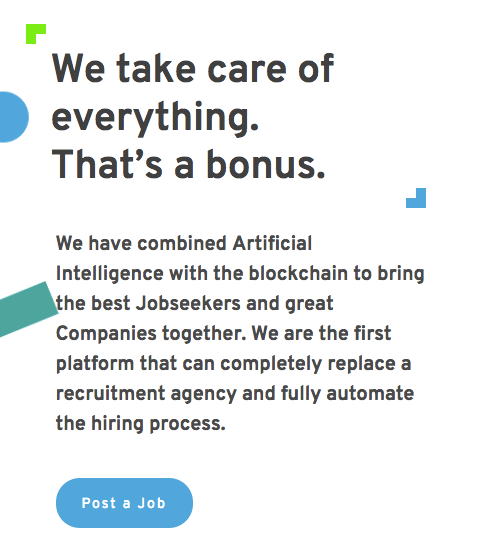 Job.com uses blockchain to find jobs for candidates.