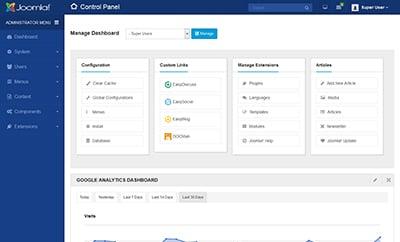 Joomla blogging platform.