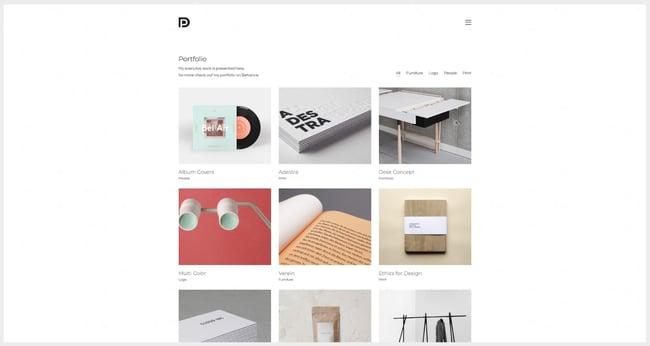 WordPress graphic design portfolio theme by Kalium