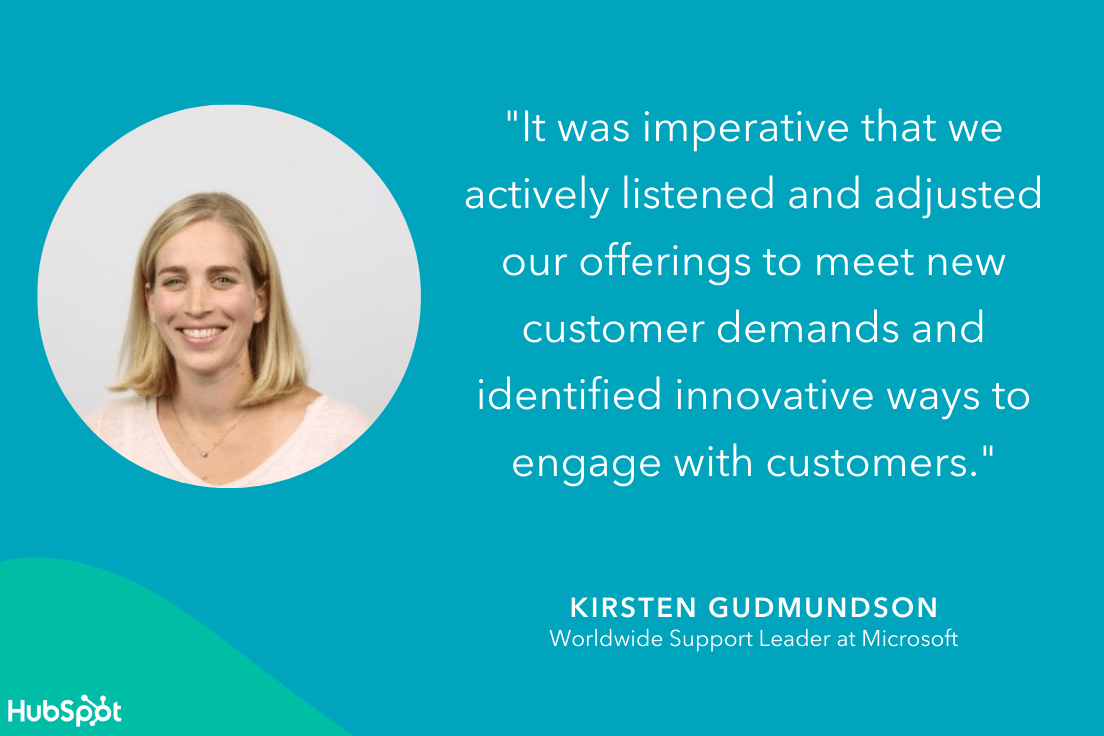 kirsten gudmundson quote on how covid impacted customer service