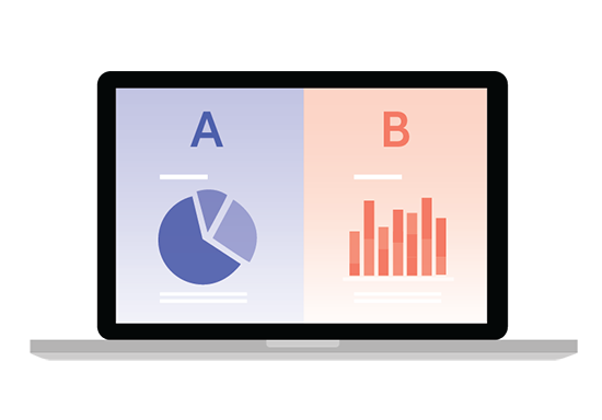 ab test graphic