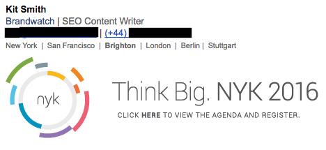 company email signature