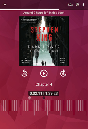 Kobo, a mobile app for reading an actual book
