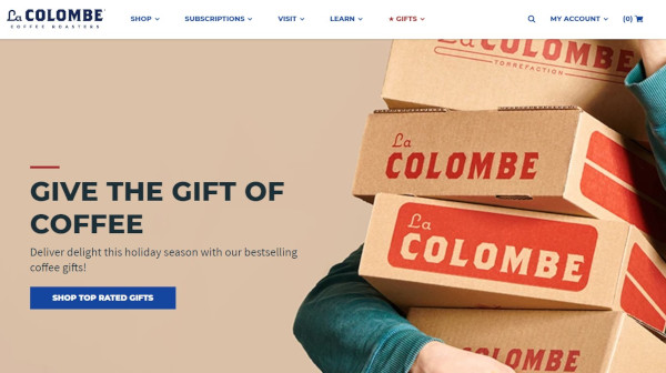 La Colombe holiday homepage