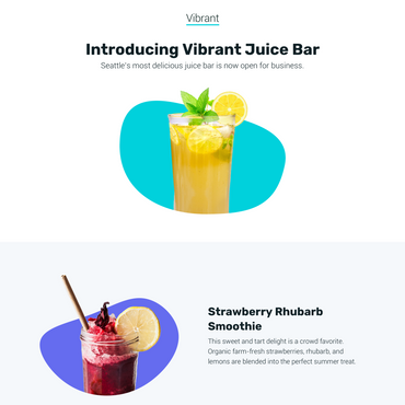 example landing page template in vibrant with placeholder text and images