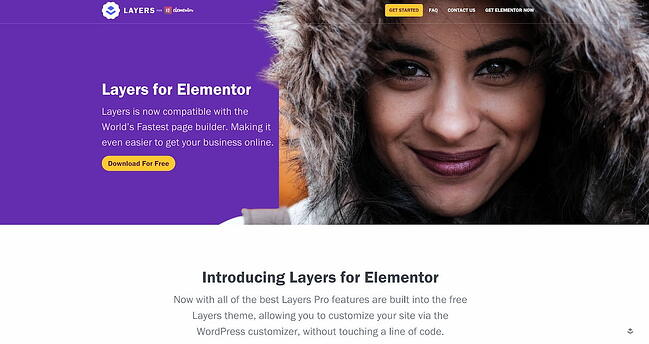 Layers drag-and-drop theme home page