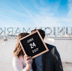 Letterfolk Instagram account showing couple on June 24 2017