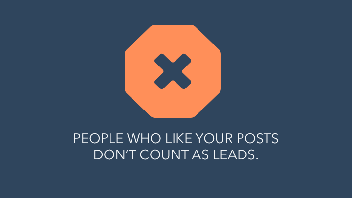 likes are not leads