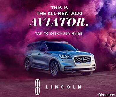 Lincoln Aviator rich media ad.