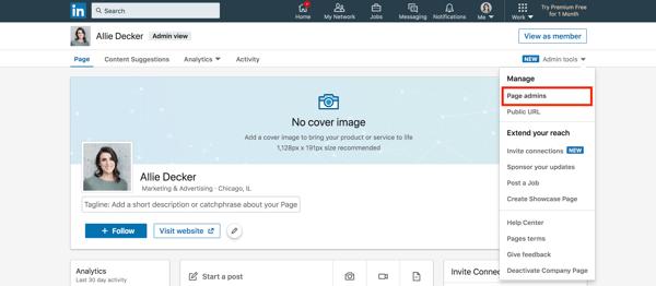 Linkedin Company Page Add New Page Administrators