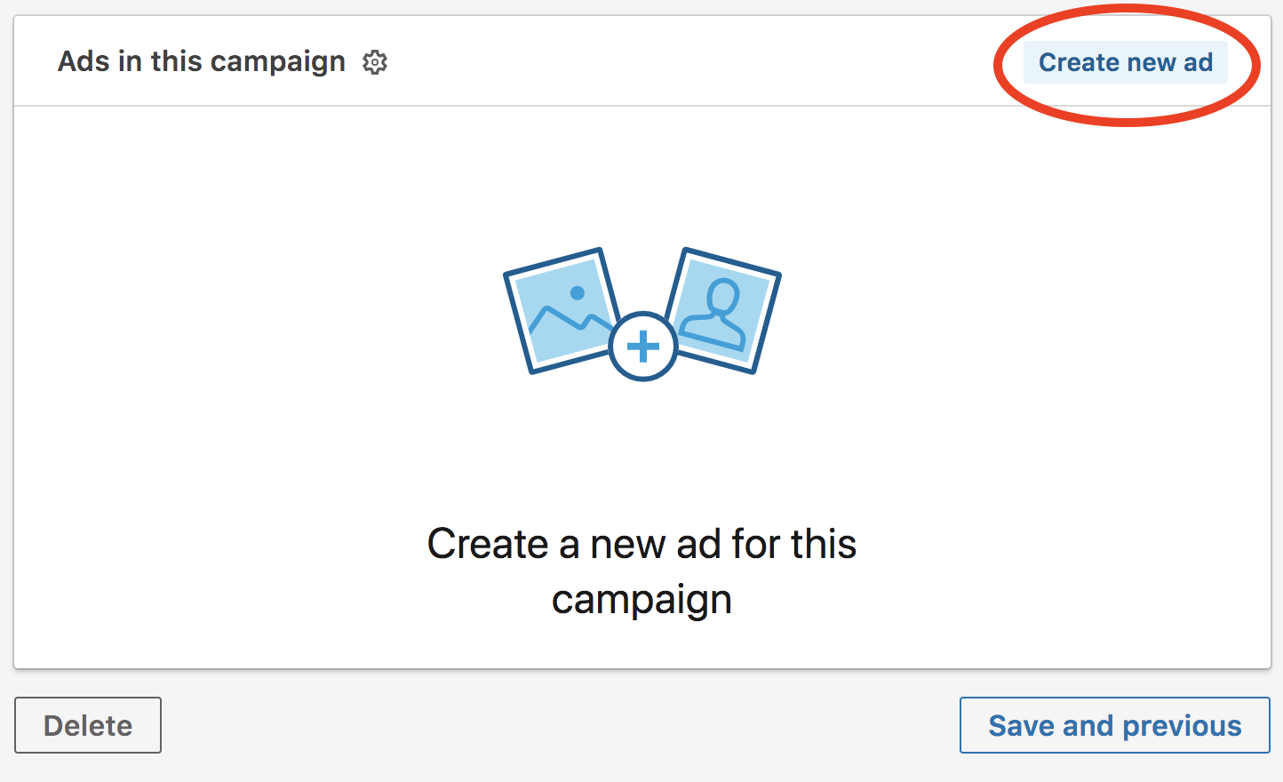 linkedin advertising create new ad