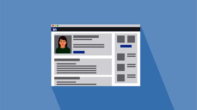 LinkedIn profile page illustration