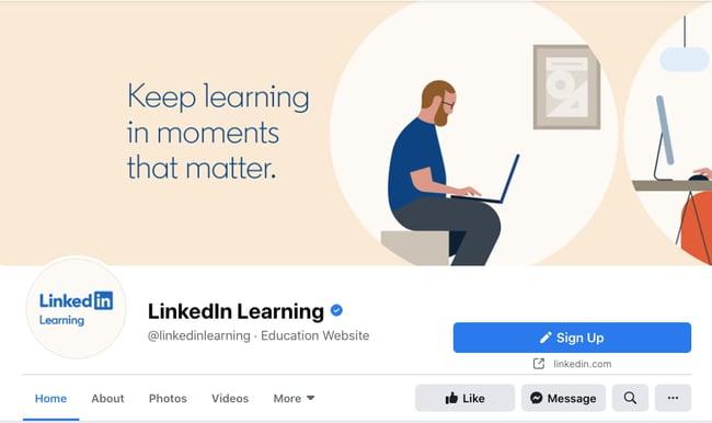 LinkedIn Learn Facebook Cover Photo