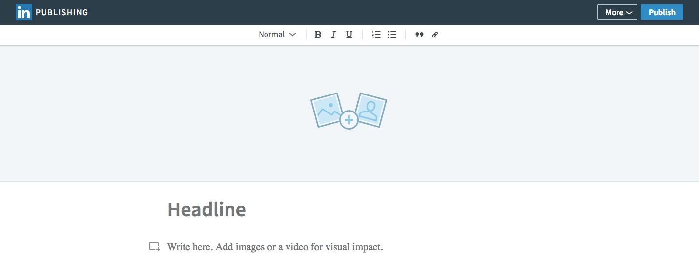 linkedin blog interface