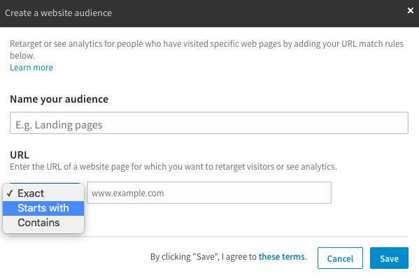 How to Get Started With LinkedIn's New Website Demographics linkedin create an audience