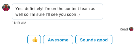 Linkedin smart replies