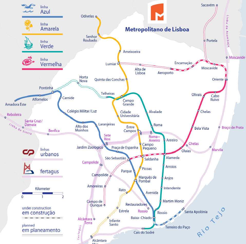 Metro Map Lisbon Portugal.The Best Worst Subway Map Designs From Around The World