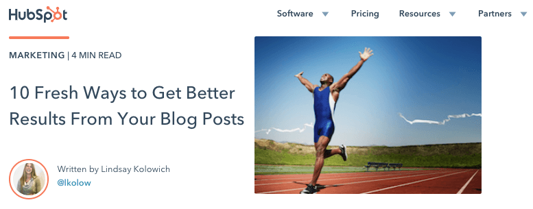 Blog that uses a list based post