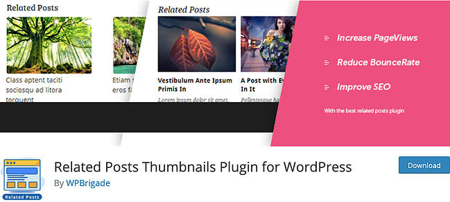listing page of Related Posts Thumbnails Plugin for WordPress