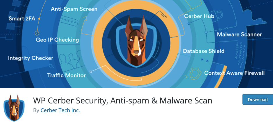 listing page of WP Cerber Security, Anti-Spam & Malware Scan plugin for WordPress