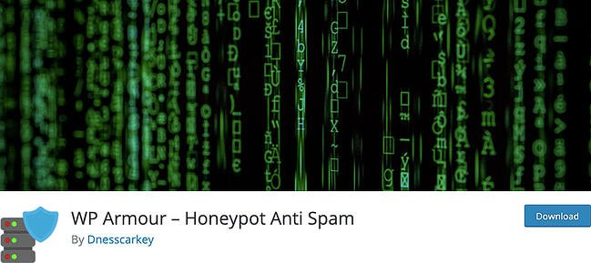 listing page of anti-spam WP Armour plugin for WordPress