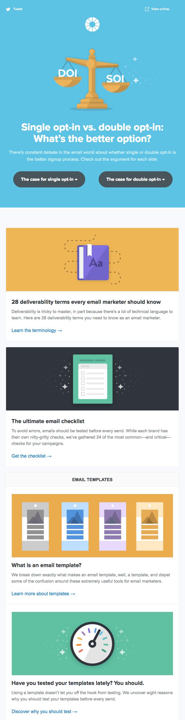 litmus newsletter examplepng