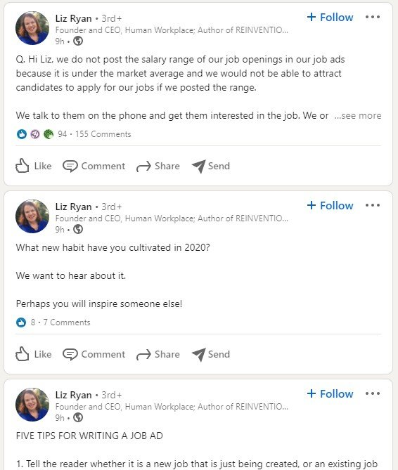 liz ryan's microblog on linkedin