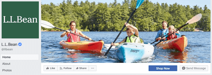 L.L. Bean Facebook Business Page