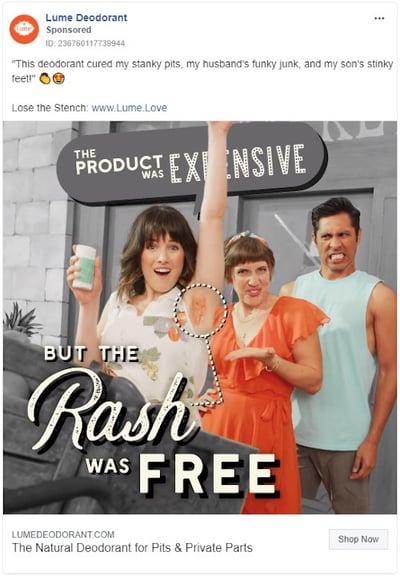 lume facebook ad