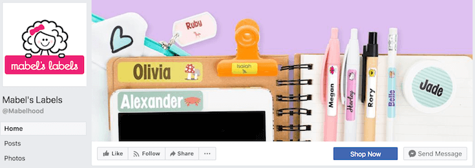 Mabel's Labels Facebook Business Page