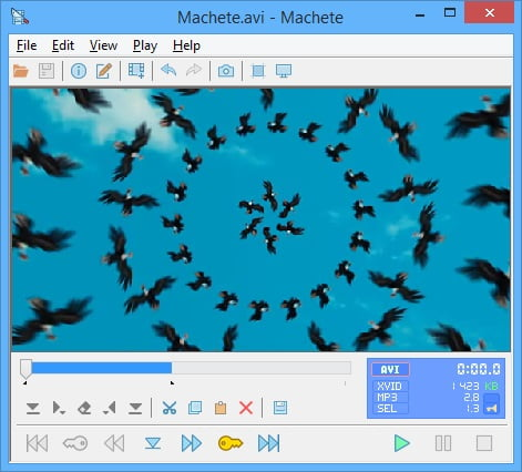 Machete video editing software for Windows OS