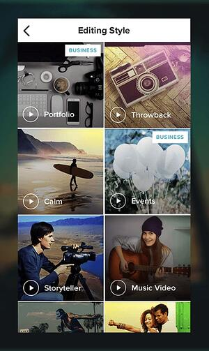 Magisto video editing app for Instagram