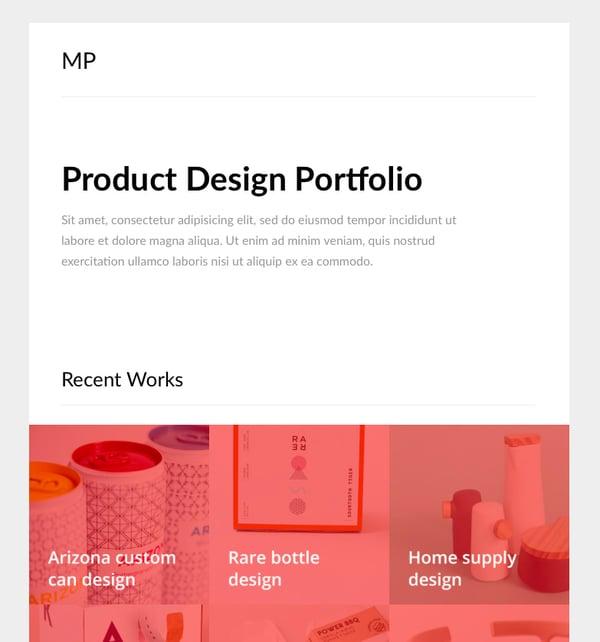 mailportfolio email newsletter template slicejack