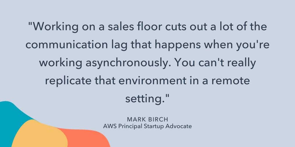 mark birch quote on sales floor