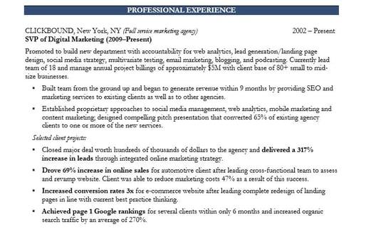 نمونه ای از مهارت های رهبری در اقدام در رزومه بازاریابی