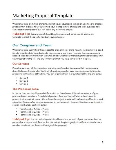 consulting proposal template for marketing