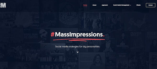 mass impressions - example of avada theme with fixed background scrolling