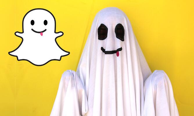 Snapchat Ghost team halloween costume