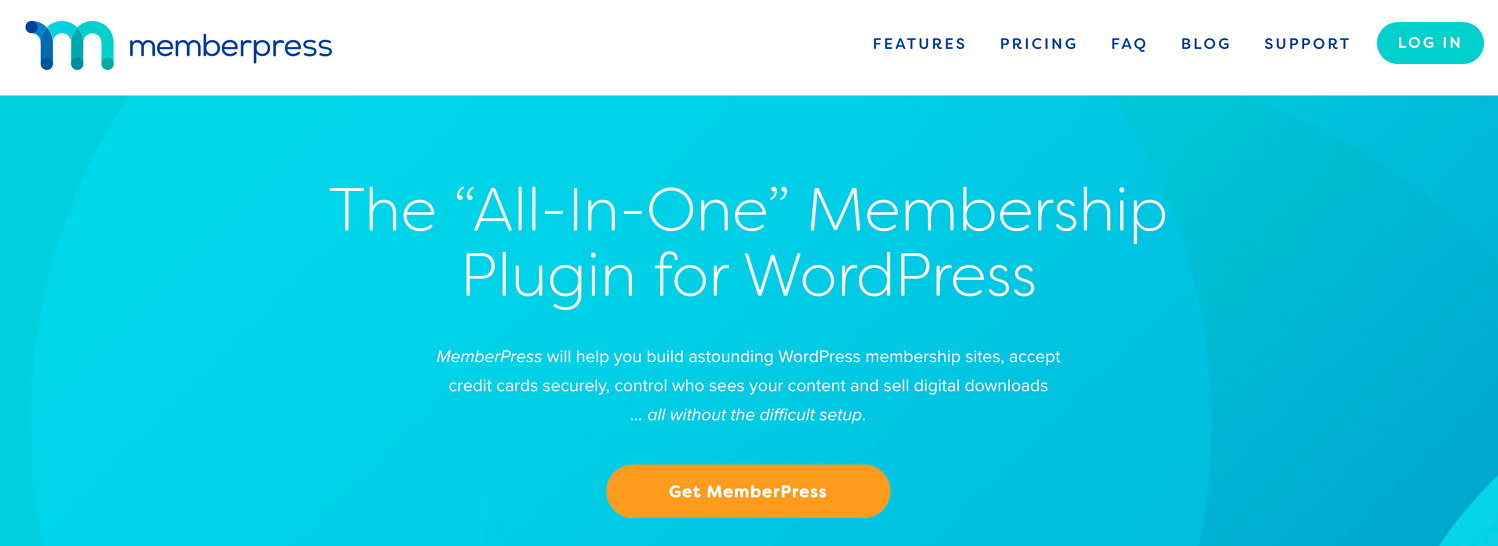 the homepage for the wordpress membership site plugin memberpress