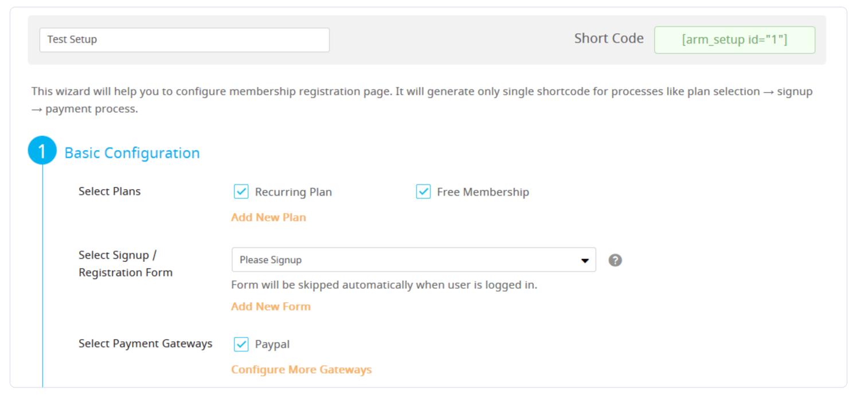 membership setup wizard for ARMember plugin review
