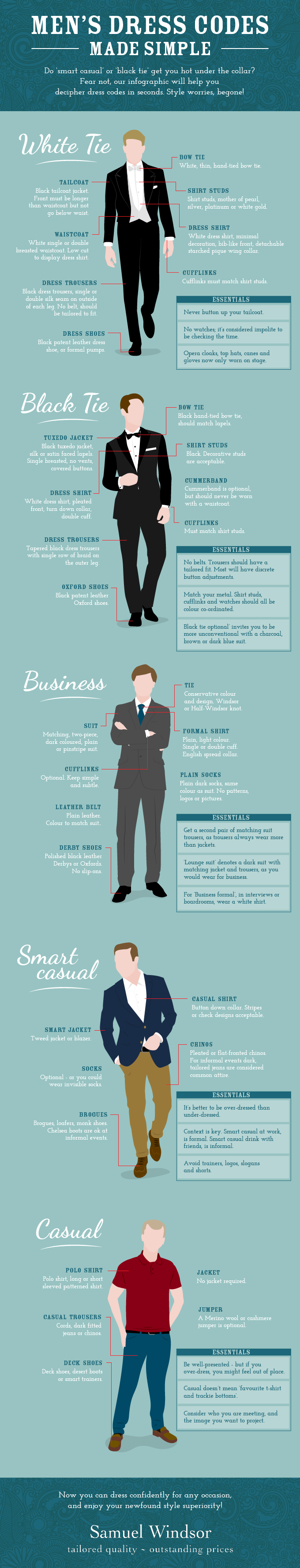 of the best infographic designs of  mens dress code infographic png