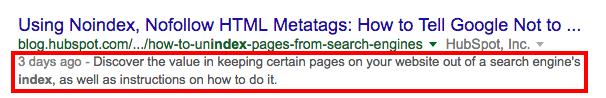 meta-description-v1.png  Blog SEO: How to Search Engine Optimize Your Blog Content meta description v1