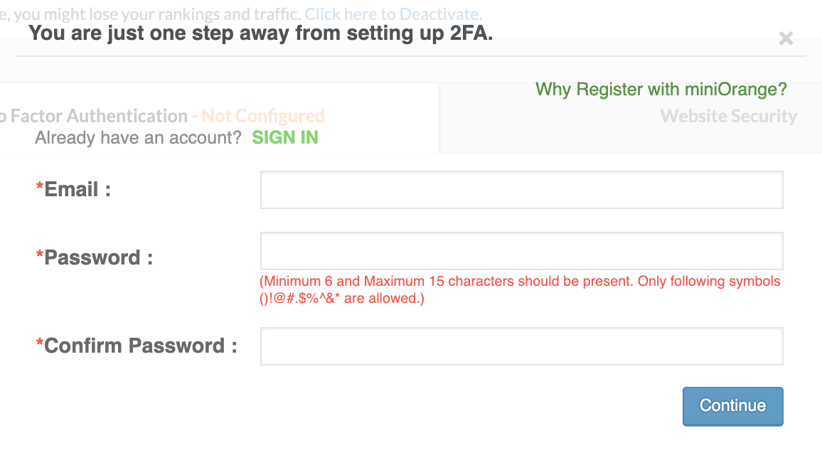 miniOrange setup how to add two factor authentication in WordPress