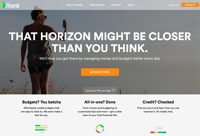 mint homepage designpng. beautiful ideas. Home Design Ideas